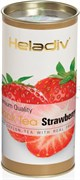 Черный чай Heladiv Strawberry (клубника), 100г, в тубе