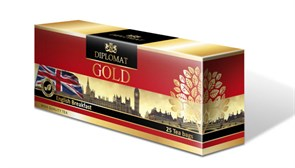 Черный чай Diplomat CEYLON English Breakfast, 25 пак